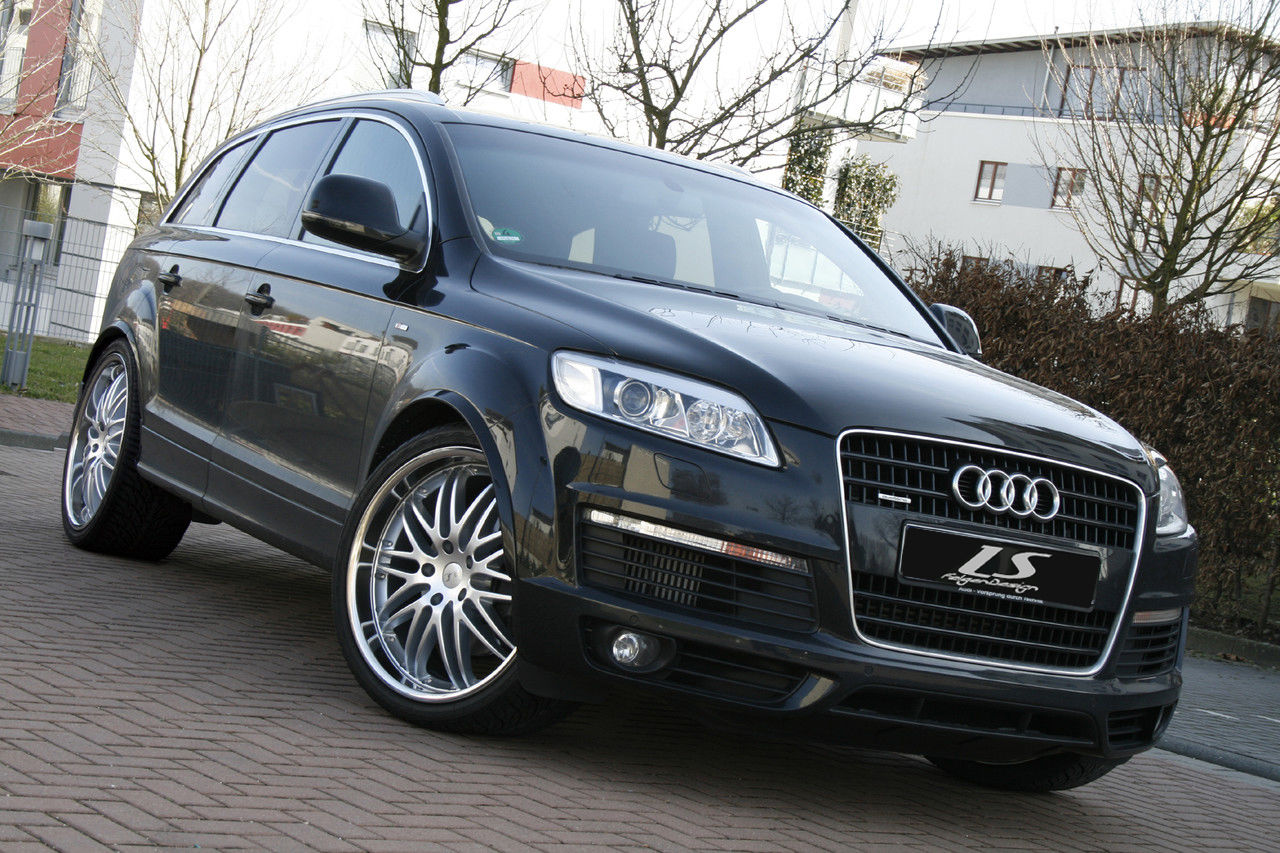 news alufelgen audi q7 4l umbau 22zoll ls sport felgen. Black Bedroom Furniture Sets. Home Design Ideas